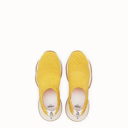 High-tech yellow jacquard sneakers - SNEAKERS | Fendi