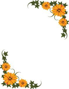 (22) Pinterest - Floral Border   margaritas con crayolas.