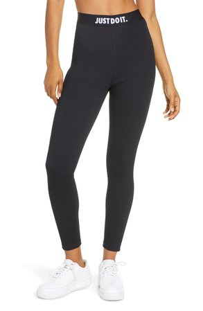Nike Sportswear JDI Rib High Waist 7/8 Leggings | Nordstrom