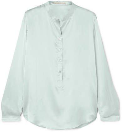 Silk-satin Blouse - Green