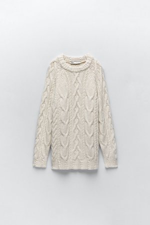 CABLE-KNIT SWEATER | ZARA Spain
