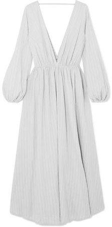 Aphrodite Cotton-gauze Maxi Dress - Gray
