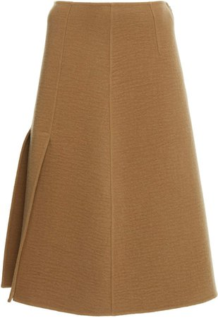 Joseph Sophie Compact Wool-Cashmere Midi Skirt