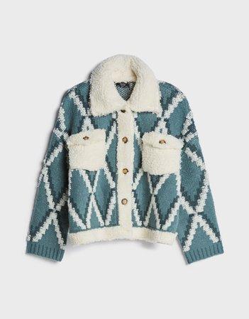 Faux shearling jacket - Outerwear - Woman   Bershka