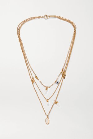 Gold Gold-tone and bone necklace | Isabel Marant | NET-A-PORTER