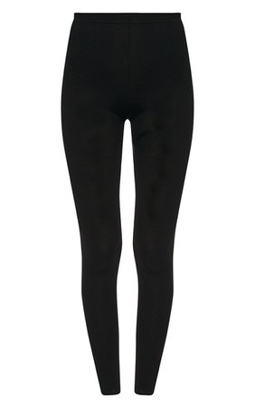 Basic Black Jersey Leggings   Leggings   PrettyLittleThing