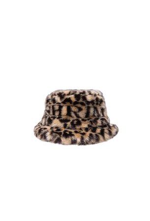 Leopard Print Faux Fur Carson Bucket Hat | Shrimps – shrimps