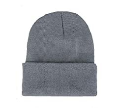 Amazon.com: CANCA Unisex Cuff Warm Winter Hat Knit Plain Skull Beanie Toboggan Knit Hat/Cap (Light Yellow): Clothing