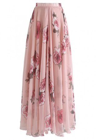 Pink Rose Panache Maxi Skirt - Skirt - BOTTOMS - Retro, Indie and Unique Fashion