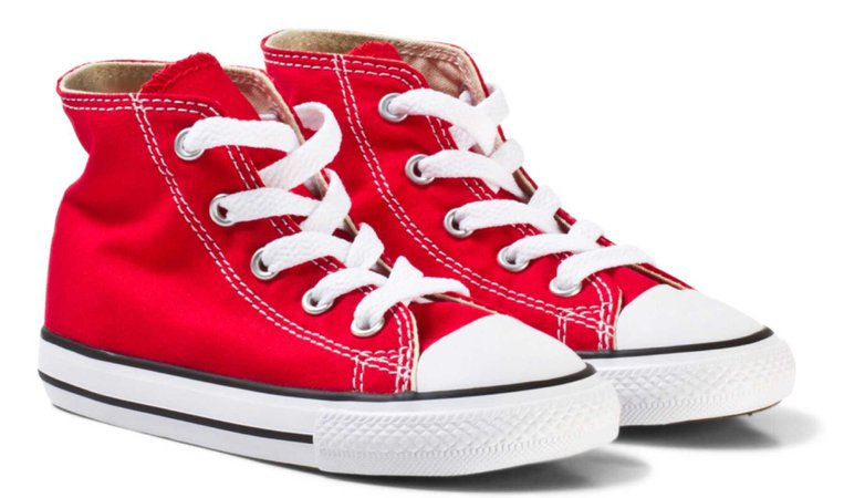 kids red high tops