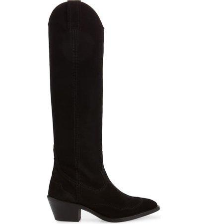 ALLSAINTS Valery Western Knee High Boot (Women) | Nordstrom