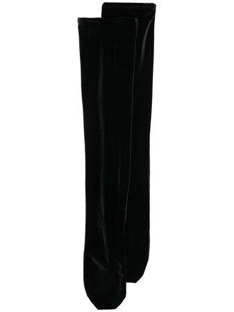 Simone Wild knee-length velvet socks black VELVETOVERKNEE - Farfetch