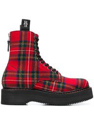 R13 Tartan Canvas Ankle Boots - Farfetch