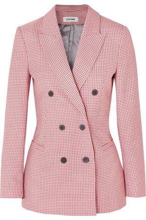 Cefinn   Double-breasted houndstooth wool-blend blazer   NET-A-PORTER.COM