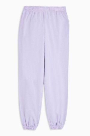 Fluorescent Lilac Sweatpants | Topshop
