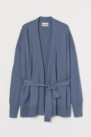 Cashmere-blend Cardigan - Blue