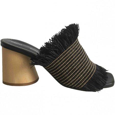 Anthracite Cloth Sandals