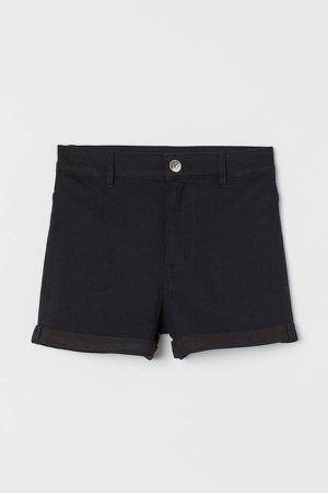 Shorts High Waist - Black