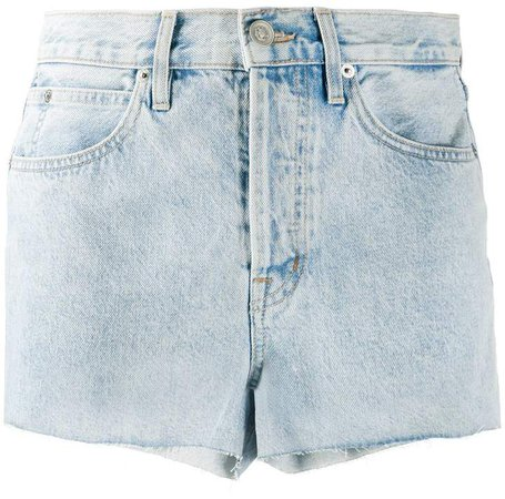 Farrah mid-rise denim shorts