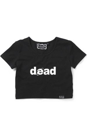 Dead Scoop Neck Crop Top [B] | KILLSTAR - US Store