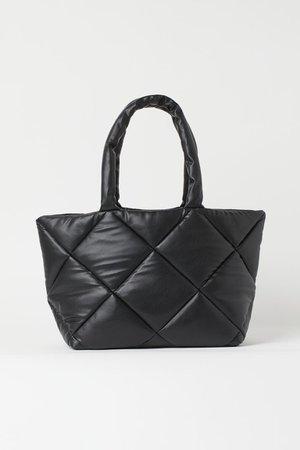 Quilted Shopper - Black - Ladies   H&M US