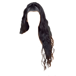 black hair png half up