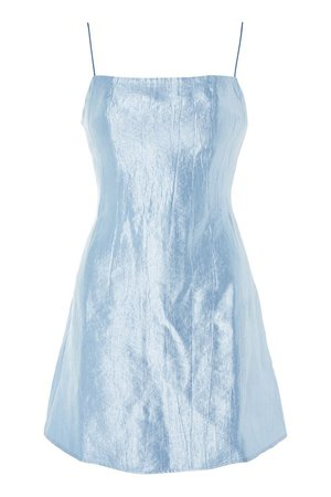 **90s Satin Mini Dress - Topshop USA