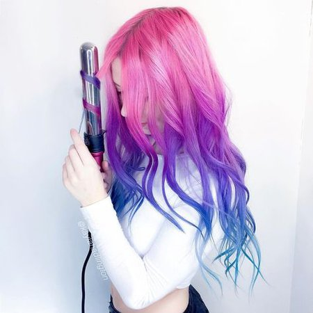 Pink Blue Ombre Hair Color