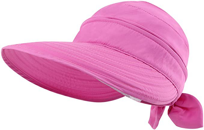 Amazon.com: Simplicity Womens Summer Hat UPF 50+ UV Womens Sun Visor Beach Hat Rose: Clothing