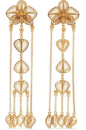 Mallarino | Orquídea gold vermeil earrings | NET-A-PORTER.COM