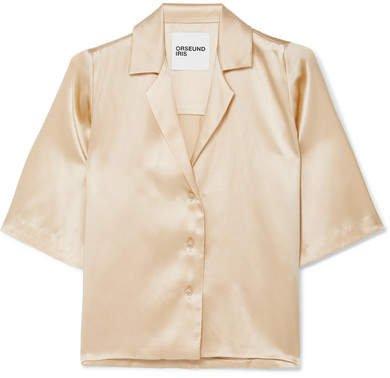 Le Funk Silk-satin Shirt - Cream