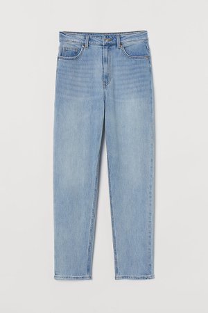 Slim Mom High Ankle Jeans - Blue