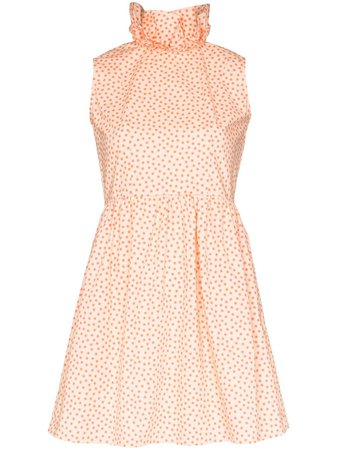 Batsheva Prairie Ruffle Collar Mini Dress Ss20 | Farfetch.com