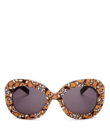 Moschino Oversized Oval Teddy Bear Sunglasses