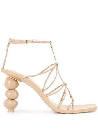 Cult Gaia Beaded Heel Sandals - Farfetch