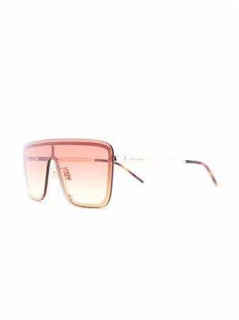 Saint Laurent tinted aviator-frame sunglasses