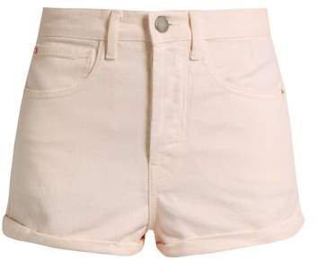 Low Cut Off Denim Shorts - Womens - Nude