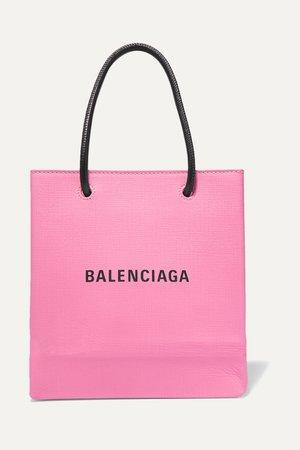 Pink XXS printed textured-leather tote   Balenciaga   NET-A-PORTER