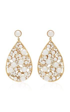 Yellow Gold Large Teardrop Earrings by Nancy Newberg | Moda Operandi