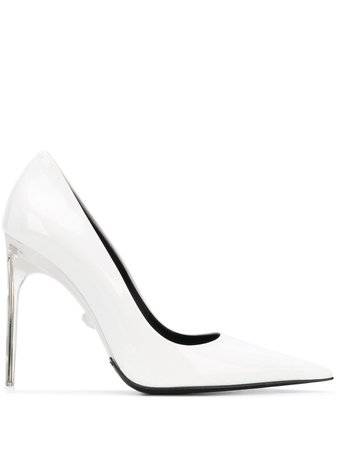 Versace transparent-heel 110mm Patent Pumps - Farfetch