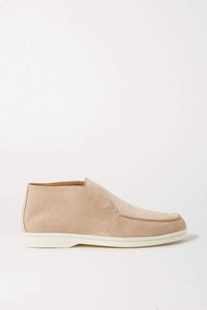 Open Walk Suede Loafers - Beige