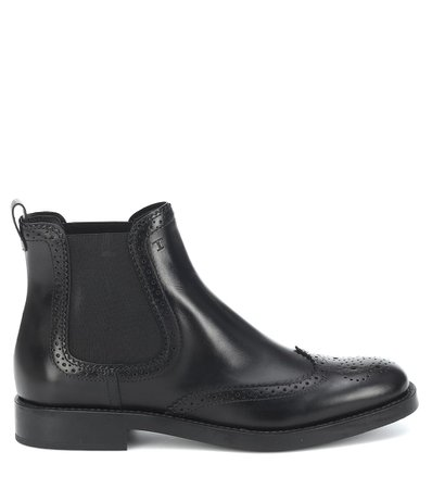 Tod's - Leather Chelsea boots | Mytheresa