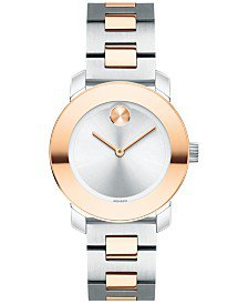 Movado Women's Swiss Bold Stainless Steel Bracelet Watch 30mm 3600433 & Reviews - All Fine Jewelry - Jewelry & Watches - Macy's