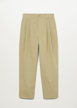 Pleat straight trousers - Women | Mango United Kingdom