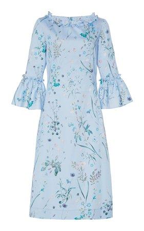 Floral Shift Dress by Luisa Beccaria | Moda Operandi