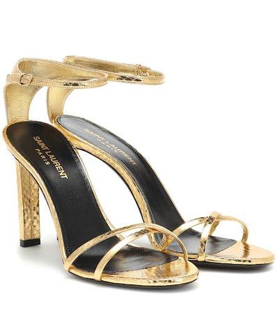 Mica 95 metallic snakeskin sandals