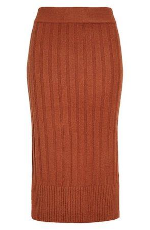 Halogen® Ribbed Sweater Skirt | Nordstrom
