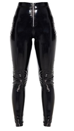 black latex pants