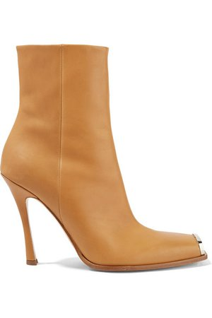 CALVIN KLEIN 205W39NYC | Wilamiona metal-trimmed leather ankle boots | NET-A-PORTER.COM