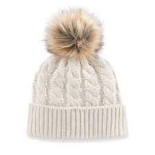 white pom beanie - Google Search